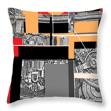 Furnace 2 Throw Pillow
