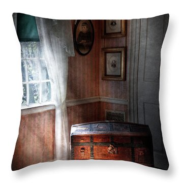Furniture - Bedroom - Family Secrets Throw Pillow by Mike Savad