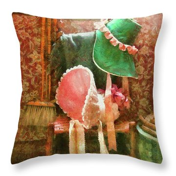 Furniture - Chair - Bonnets  Throw Pillow by Mike Savad