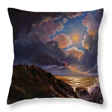 Throw Pillow featuring the painting Furor by Rosario Piazza