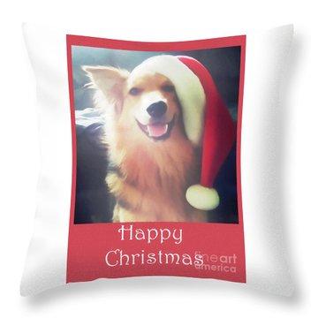 Furry Christmas Elf Throw Pillow