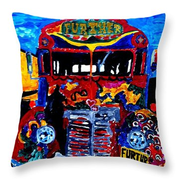 50th Anniversary Further Bus Tour Throw Pillow