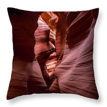 Throw Pillow featuring the photograph Further In The Canyon by Jon Glaser