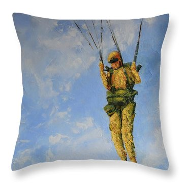 Fury From The Sky  Throw Pillow