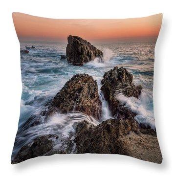 Fury Of The Sea Throw Pillow