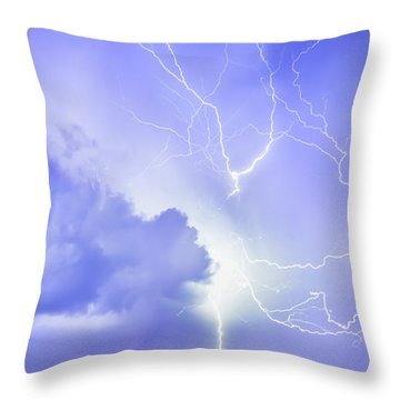 Fury Of The Storm Throw Pillow