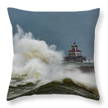 Throw Pillow featuring the photograph Fury On The Lake by Everet Regal