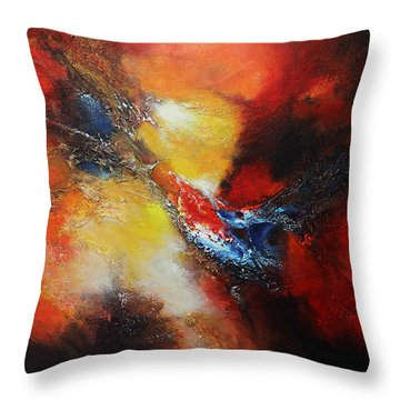 Throw Pillow featuring the painting Fury by Patricia Lintner
