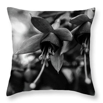 Fuchsia, Black And White Throw Pillow