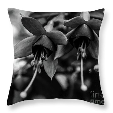 Fuchsia, Black And White Throw Pillow