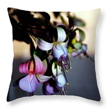 Throw Pillow featuring the photograph Fuschia Dancing Lady by Joseph Frank Baraba