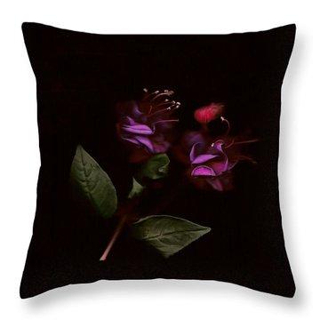 Fushia Fusion Throw Pillow by Sarah E Ethridge