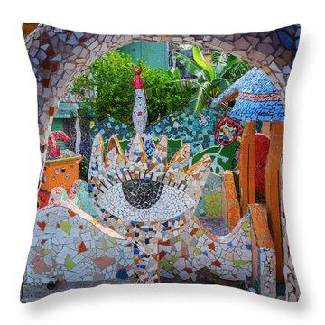 Throw Pillow featuring the photograph Fusterlandia Havana Cuba by Joan Carroll