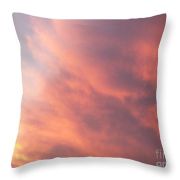 Futile Faces Throw Pillow