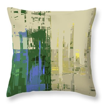 Throw Pillow featuring the digital art Futura Circa 66 by Gina Harrison