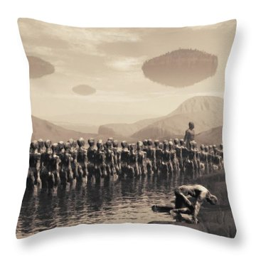 Future Cattle Throw Pillow