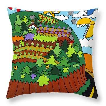 Future Development A Throw Pillow by Rojax Art