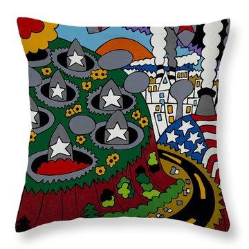 Future Development B Throw Pillow by Rojax Art