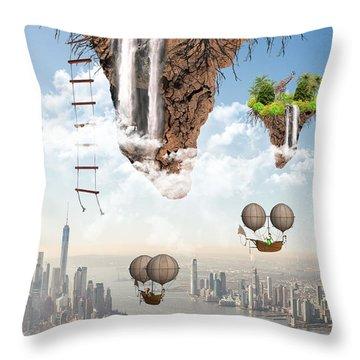 Future Idealism Throw Pillow