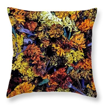 Future Marigolds Throw Pillow