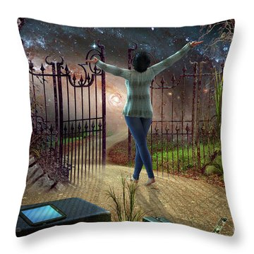 Future Road Throw Pillow by Shadowlea Is
