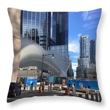 Futuristic City Throw Pillow