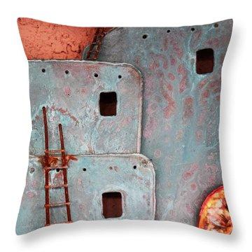 Futuristic Pueblo Throw Pillow