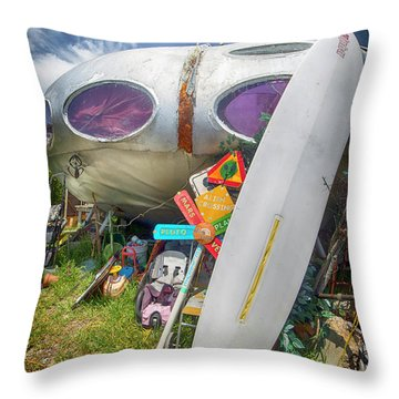 Throw Pillow featuring the photograph Futuro House 2 by Alan Raasch
