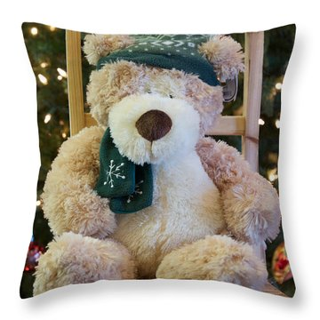 Fuzzy Bear Throw Pillow