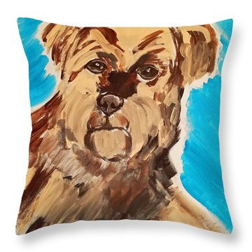 Fuzzy Boy Throw Pillow