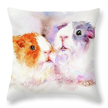 Fuzzy Buddies Throw Pillow