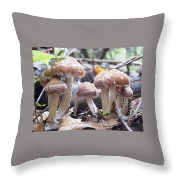 Fuzzy Fungi Throw Pillow