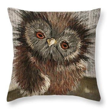 Fuzzy Owl Throw Pillow