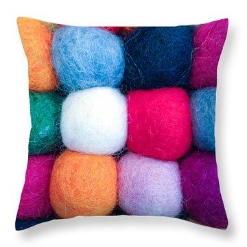 Fuzzy Wuzzies Throw Pillow