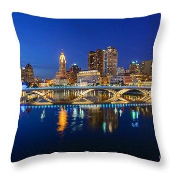 Fx2l531 Columbus Ohio Skyline Photo Throw Pillow