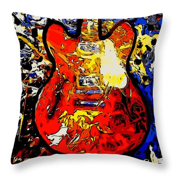 gibson ES-335 rework Throw Pillow