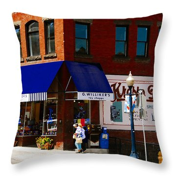 G Willikers Toy Shoppe Throw Pillow by David Lee Thompson
