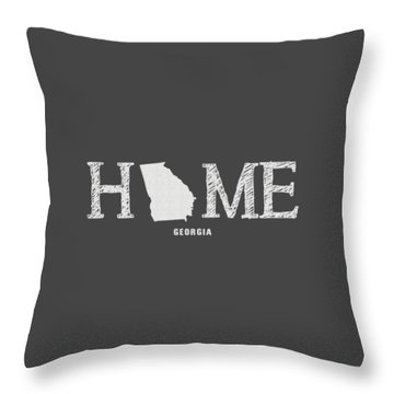 Throw Pillow featuring the mixed media Ga Home by Nancy Ingersoll
