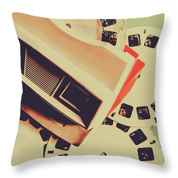 Gadgets Of Nostalgia Throw Pillow