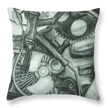 Gadgets Of Sorts Throw Pillow