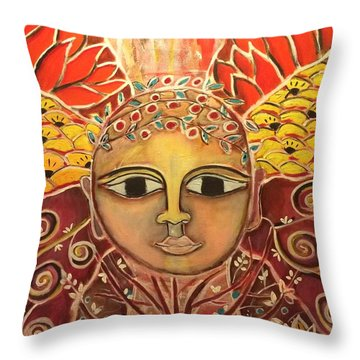 Gaia - Mother Earth  Throw Pillow