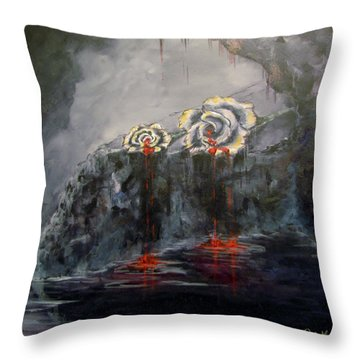 Gaia's Tears Throw Pillow