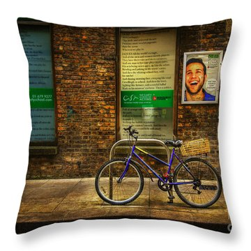 Throw Pillow featuring the photograph Gaiety Bicycle by Craig J Satterlee