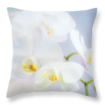 Gail's Orchids Throw Pillow