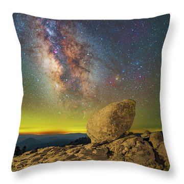 Galactic Erratic Throw Pillow