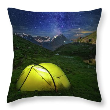 Galactic Eruption Throw Pillow