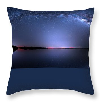 Throw Pillow featuring the photograph Galactic Lake by Mark Andrew Thomas