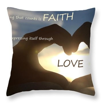 Galatians 5 6 Throw Pillow