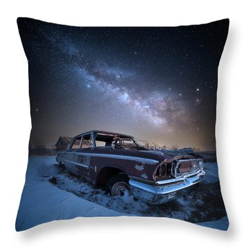 Throw Pillow featuring the photograph Galaxie 500 by Aaron J Groen