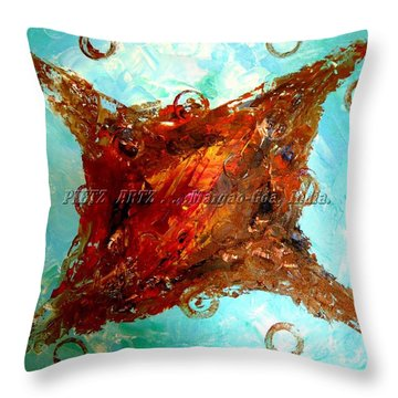 Throw Pillow featuring the painting Galaxies by Piety Dsilva